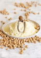Plate of raw chickpea flour and beans - PhotoDune Item for Sale