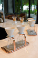 Manual and traditional drip coffee equipment on table at coffee shop - PhotoDune Item for Sale
