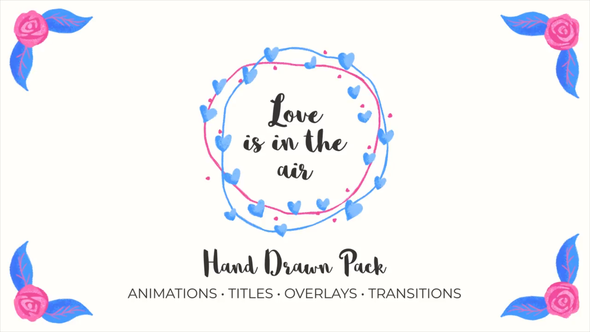 Love Is In The Air. Hand Drawn Pack