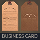 Vintage, Label Style Business Card - GraphicRiver Item for Sale