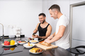 Gay couple cooking healthy vegan food together at home - PhotoDune Item for Sale