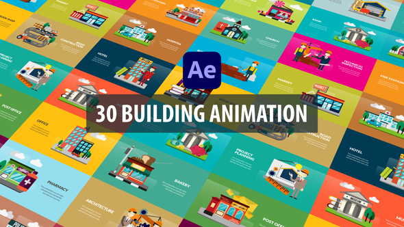 Building Animation   After Effects