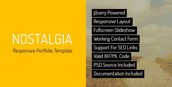 Nostalgia - responsywny szablon minimalnego portfolio