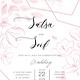 Pink Geometric Wedding Invitation Set - GraphicRiver Item for Sale