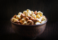 Mix of cashews and almonds in clay plate - PhotoDune Item for Sale