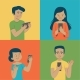 Young People Using Technology - GraphicRiver Item for Sale