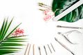 Tools of manicure set on white background - PhotoDune Item for Sale