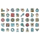 Problem Solving Icons Set Vector Flat - GraphicRiver Item for Sale