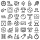 Physical Activity Icons Set Outline Style - GraphicRiver Item for Sale