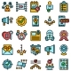 Credibility Icons Set Vector Flat - GraphicRiver Item for Sale