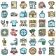 Human Needs Icons Set Vector Flat - GraphicRiver Item for Sale