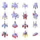 Sea Drilling Rig Icons Set Isometric Style - GraphicRiver Item for Sale