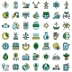 Eco Innovation Icons Set Vector Flat - GraphicRiver Item for Sale