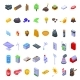 Natural Resources Icons Set Isometric Style - GraphicRiver Item for Sale
