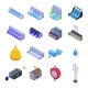 Hydro Power Icons Set Isometric Style - GraphicRiver Item for Sale