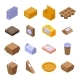 Eco Packaging Icons Set Isometric Style - GraphicRiver Item for Sale