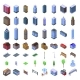 City Infrastructure Icons Set Isometric Style - GraphicRiver Item for Sale