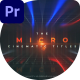 Micro Cinematic Titles - VideoHive Item for Sale