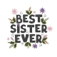 Best Sister Ever  Fun Hand Drawn Nursery Poster - GraphicRiver Item for Sale