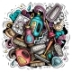 Cleaning Cartoon Vector Doodle Design - GraphicRiver Item for Sale