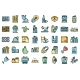 Waste Icons Set Vector Flat - GraphicRiver Item for Sale