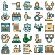 Authority Icons Set Vector Flat - GraphicRiver Item for Sale