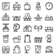 Waiting Area Icons Set Outline Style - GraphicRiver Item for Sale