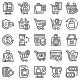 Purchase History Icons Set Outline Style - GraphicRiver Item for Sale