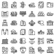 Paper Production Icons Set Outline Style - GraphicRiver Item for Sale
