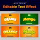 Orange & Mango 3D Editable Text Style Effect - GraphicRiver Item for Sale