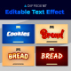 Cookies and Bread Editable Text Style Effect - GraphicRiver Item for Sale