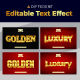 Golden 3D Editable Text Style Effect - GraphicRiver Item for Sale