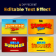 Summer 3D Editable Text Style Effect - GraphicRiver Item for Sale