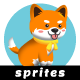 Shiba Inu Sprites - 2D Game Asset Puppy - GraphicRiver Item for Sale
