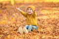 Happy child outdoor in autumn - PhotoDune Item for Sale