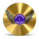 Gold Record Music Disc Award Mockup - GraphicRiver Item for Sale