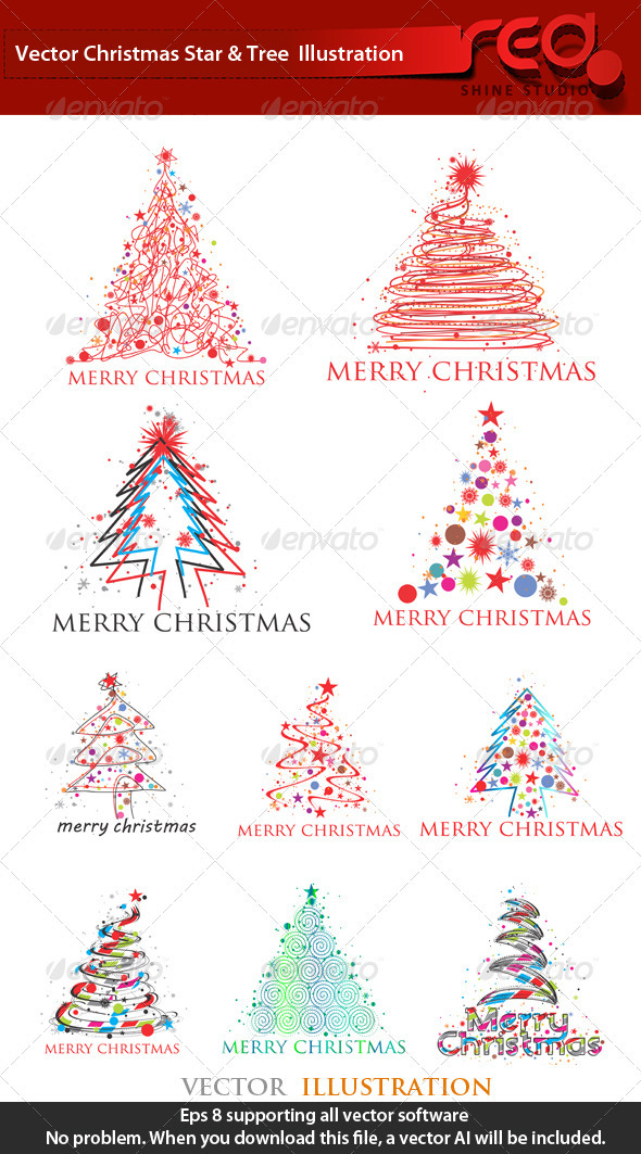 Stylised Christmas Tree Collection