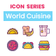 75 World Cuisine Icons   Crayons Series - GraphicRiver Item for Sale