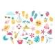 Summer Set with Cute Beach Elements Bikini Flip - GraphicRiver Item for Sale