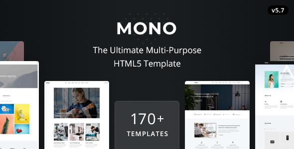 Mono - Kreatywny uniwersalny szablon HTML5