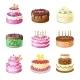 Cartoon Cakes - GraphicRiver Item for Sale