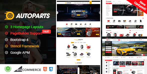 AutoParts - Responsive BigCommerce Theme With Page Builder Support