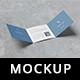 Trifold Square Brochure Mockup - GraphicRiver Item for Sale