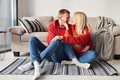 Closeness of people. Young lovely couple together at home spending weekend and holidays together - PhotoDune Item for Sale