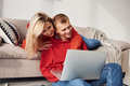 Young lovely couple together at home spending weekend and holidays together - PhotoDune Item for Sale