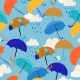 Seamless Pattern with Colorful Umbrellas in the - GraphicRiver Item for Sale