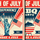 4th of July / July 4th BBQ Flyers - GraphicRiver Item for Sale