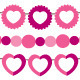 Bunting and garland pink vector set  - GraphicRiver Item for Sale