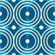 Blue circles seamless vector pattern  - GraphicRiver Item for Sale