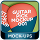 Guitar Pick Mockup 001 - GraphicRiver Item for Sale